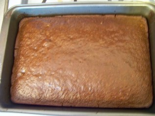 The cake for Father's Day--still needs to be frosted.