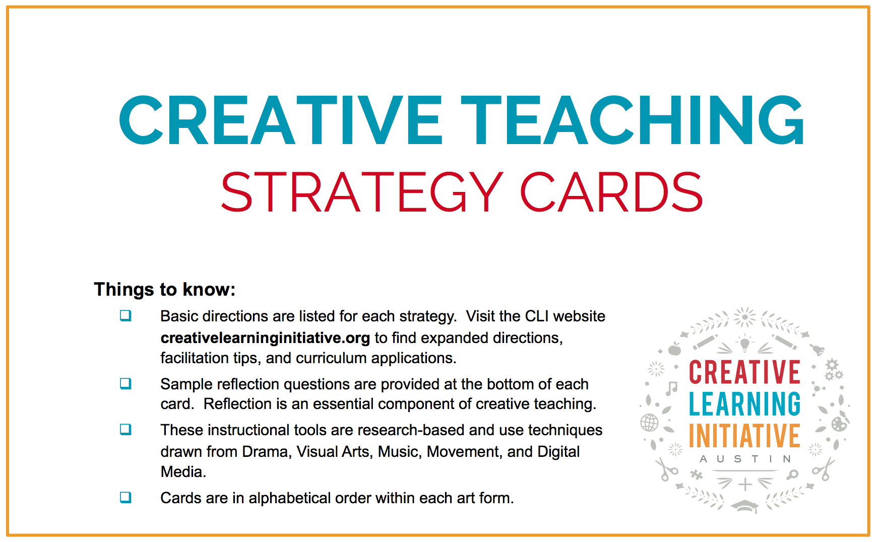 Creative Teaching Strategies The Cli Teacher Resource Blog
