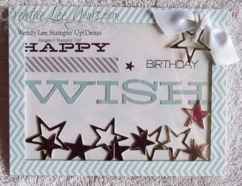 July 2014 Paper Pumpkin Kit-Wish Big shaker card