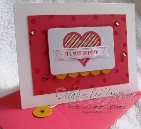 August 2014 Paper Pumpkin Kit - Simply Amazing heart birthday
