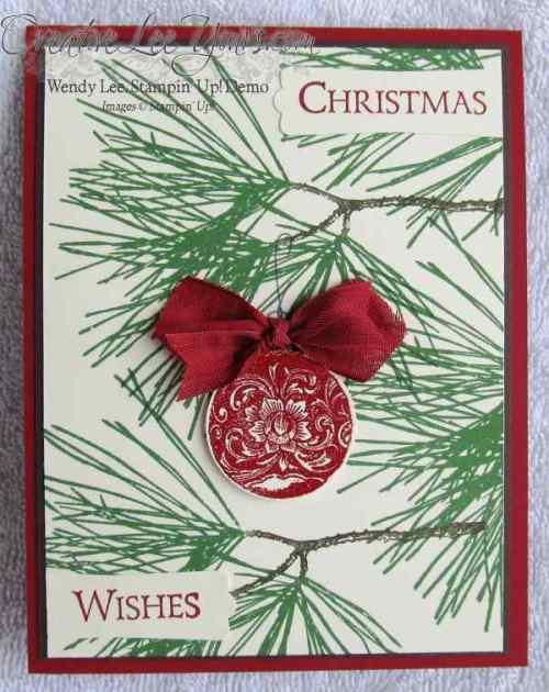 Ornamental Pines Ornament By Wendy Lee