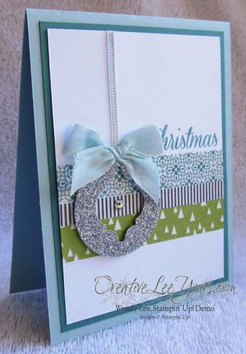 All is calm mosaic by Wendy Lee, #creativeleeyours, Stampin Up!, washi tape, mosaic punch