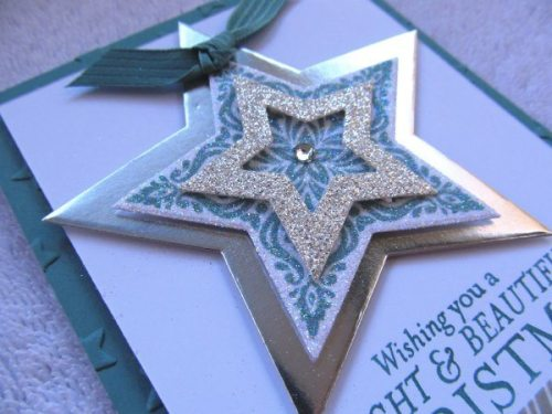 Layered stars, creativeleeyours, Stampin' Up!, Christmas