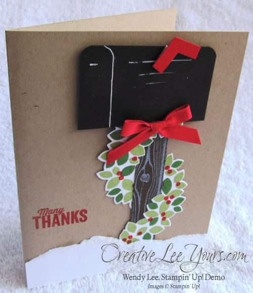 wondrous wreath garland by wendy lee, #creativeleeyours, Stampin' Up!, Christmas Card