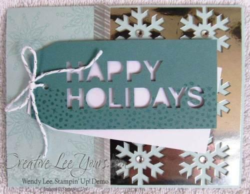 Nov 2014 Simply Snowflake Paper Pumpkin kit by Wendy Lee,#creativeleeyours, Stampin' Up!, Christmas Cards