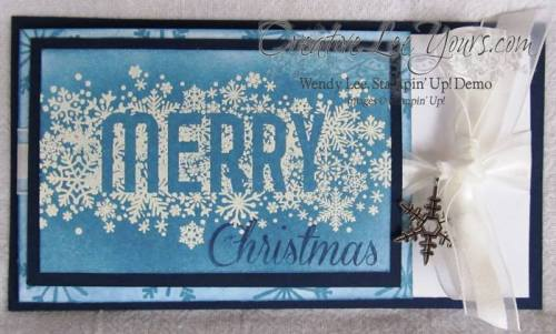 Merry Christmas Gift Card Holder by Wendy Lee, Seasonally Scattered, #creativeleeyours, Stampin Up