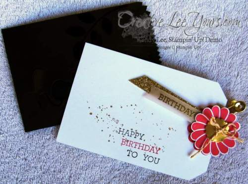 Happy Birthday Treat Bag Pull Card by Wendy Lee, #creativeleeyours, Stampin' Up!, Crazy About You stamp set, FMN February class