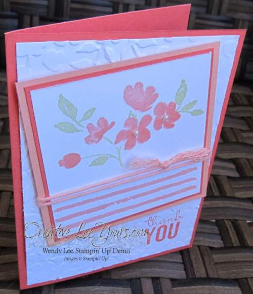 Painted Petals Thank You by Wendy Lee, #creativeleeyours, Stampin' Up!