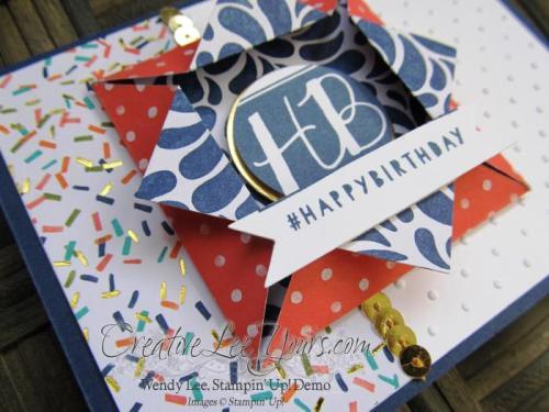 Shadowbox Fun Fold Birthday by Wendy Lee, #creativeleeyours, Stampin' Up!, Balloon Bash