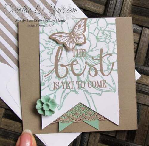 Best Thoughts by Wendy Lee, #creativeleeyours, Stampin' Up!, Envelope paper, New catalog open house
