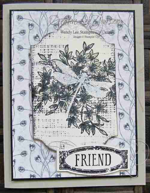 embossed awesomely artistic by wendy lee, #creativeleeyours, Stampin up, card