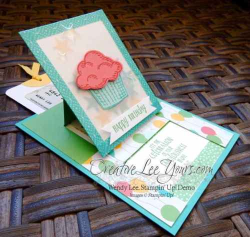 Sprinkles of Life Slider Pull Gift Card Holder by Wendy Lee, #creativeleeyours, Stampin' Up!, Birthday, Aug 2015 FMN class