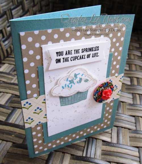 Sprinkles of Life Cupcake by Betsy Batten, #creativeleeyours, Stampin' Up!, Diemonds team swap