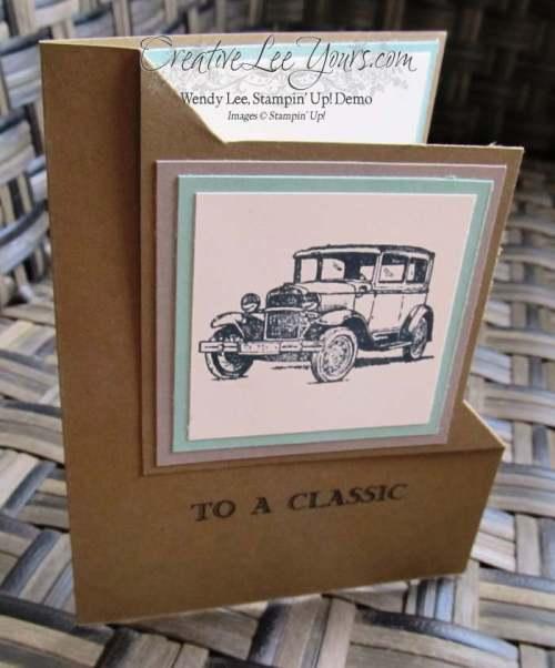 Guy Greetings Corner Fold by Belinda Rodgers, #creativeleeyours, Stampin' Up!, Diemonds team swap