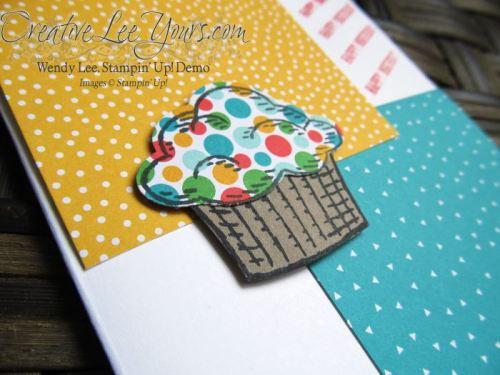Birthday Cupcake by Robin Reid, #creativeleeyours, Diemonds team swap, Stampin' Up!, Sprinkles of Life Stamp set
