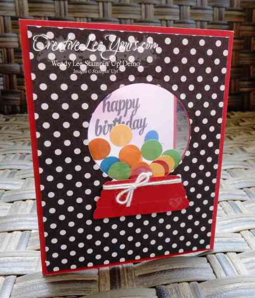 Gumball Birthday by Wendy Lee, #creativeleeyours, Stampin' Up!, Sparkly Seasons stamp set