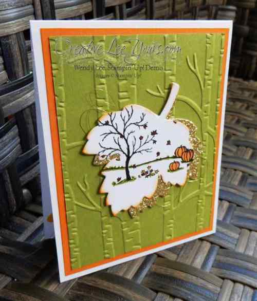 Fall Leaves by Zoe Williams, #creativeleeyours, Stampin' Up!, Fall cards, Happy Scenes, Vintage Leaves