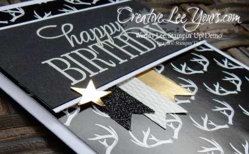 Masculine Birthday by Wendy Lee, #creativeleeyours, Stampin' Up!, Dec 2015 FMN paper pumpkin bonus card, winter wonderland dsp, Happy Birthday,everyone stamp set