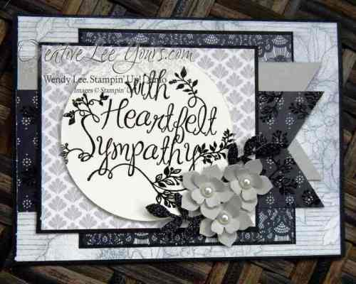 Heartfelt sympathy by wendy lee, #creativeleeyours, Stampin' Up!, December 2015 FMN class, hand made card