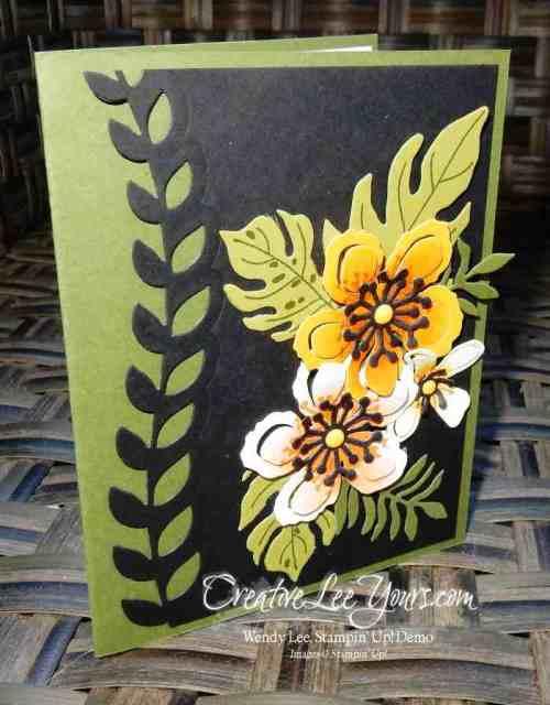 Botanical Just for You by Wendy Lee, Jan 2016 FDMN, # creativeleeyours, Stampin' Up!, Botanical Blooms stamp set