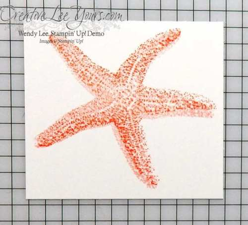 You're So Wonderful Starfish by Wendy Lee, Picture perect stamp set, #creativeleeyours, Stampin' Up!, Diemonds team meeting