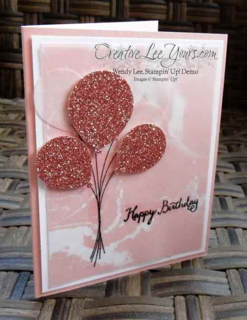 Birthday Balloons by Zoe Williams, #creativeleeyours, Stampin' Up!, Balloon Celebration stamp set, Diemonds team swap