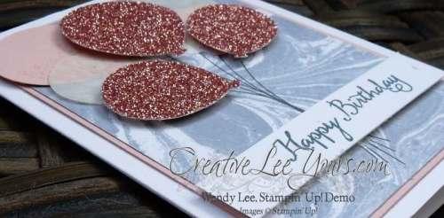 Glitter Balloons by Wendy Lee, #creativeleeyours, Stampin' Up!, Balloon Celebration Stamp Set, Birthday