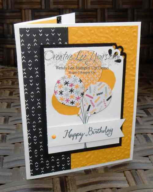 Balloon Celebration by Wendy lee, #creativeleeyours, Stampin' Up!, February 2016 FMN class, party pop up thinlits, birthday