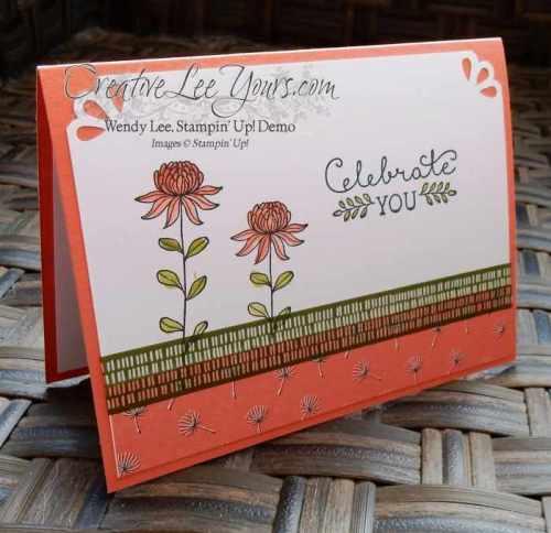 Celebrate You flowering fields by Belinda Rodgers, SAB 2016, #creativeleeyours, Stampin' Up!, Diemonds team swap