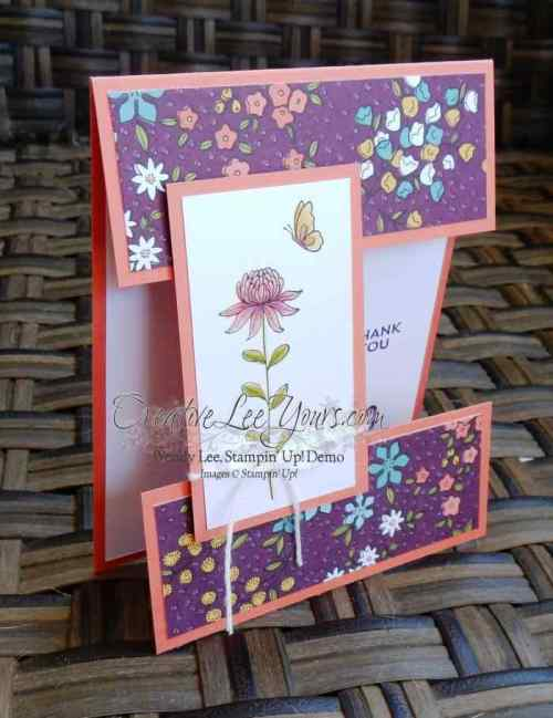 cut apart flowering fields by wendy lee, #creativeleeyours, Stampin' Up!, March 2016 FMN class, SAB 2016