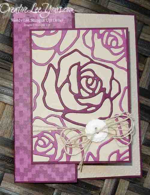 Double Front Fold by Wendy Lee, #creativeleeyours, Stampin' Up!, Mothers day card, Rose Wonder stamp set, Rose Garden thinlits