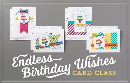 Endless Birthday Wishes, Stampin' Up!, #creativeleeyours, Wendy Lee, Tutorial, Birthday cards