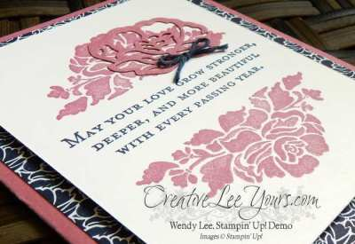 Floral Phrases by Wendy Lee, Floral Phrases stamp set, Stampin Up, Stamping, #creativeleeyours, Love, Wedding, hand stamped card