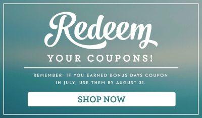 Redeem Bonus Days Coupons, Stampin Up