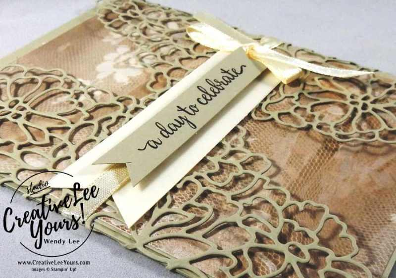 A Day to Celebrate by Wendy Lee, Stampin Up, #creativeleeyours, Creatively Yours, wedding cards, so in love stamp set, so detailed thinlits, falling for you stamp set