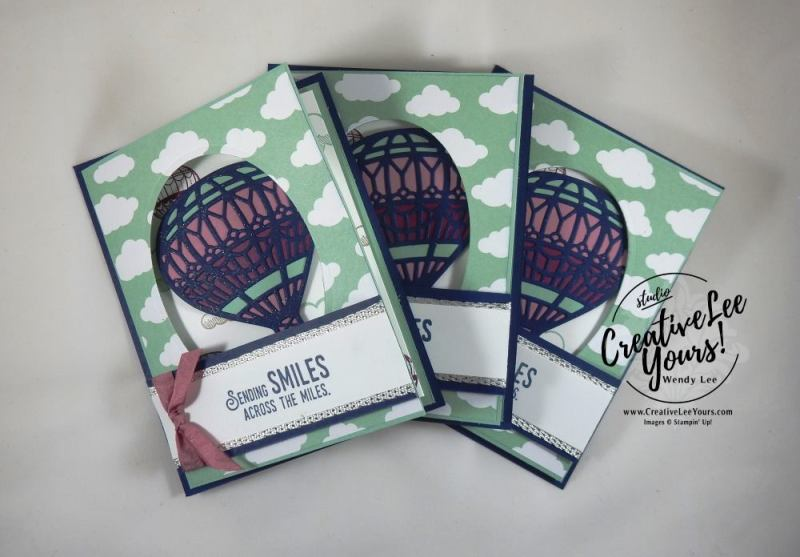 Lift Me Up Fancy Fold by Wendy Lee, Stampin Up, #creativeleeyours, creatively yours, lift me up stamp set, Up & Away thinlits, February 2017 FMN class, hand stamped birthday card