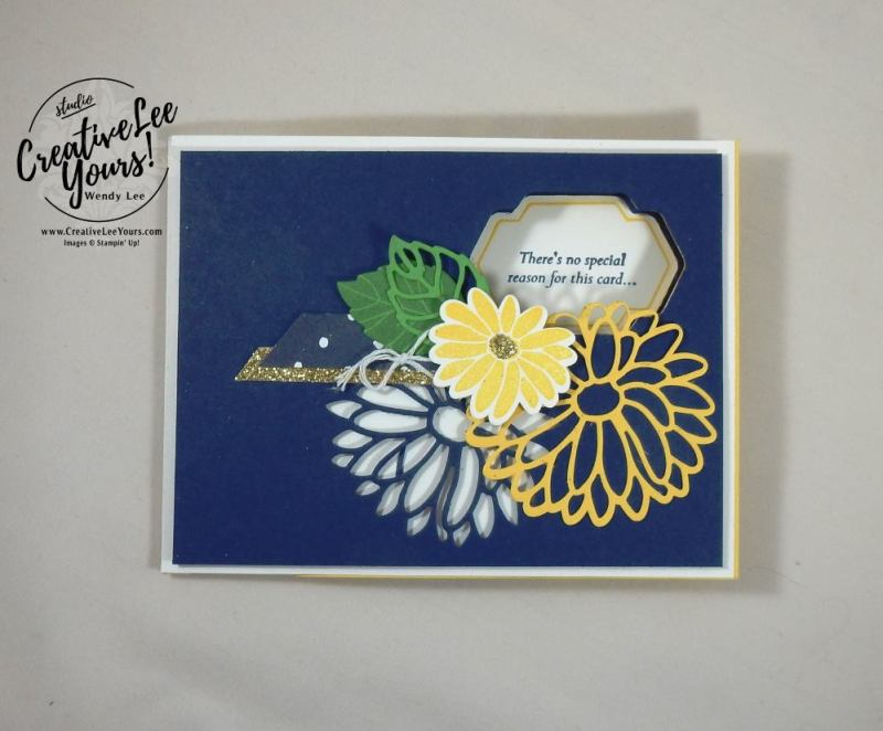 Special Reason Peekaboo Slider by Wendy Lee, Stampin Up, #creativeleeyours, creatively yours, March 2017 FMN class, occasions card, special reason stamp set, special reason framelits, peekaboo slider technique