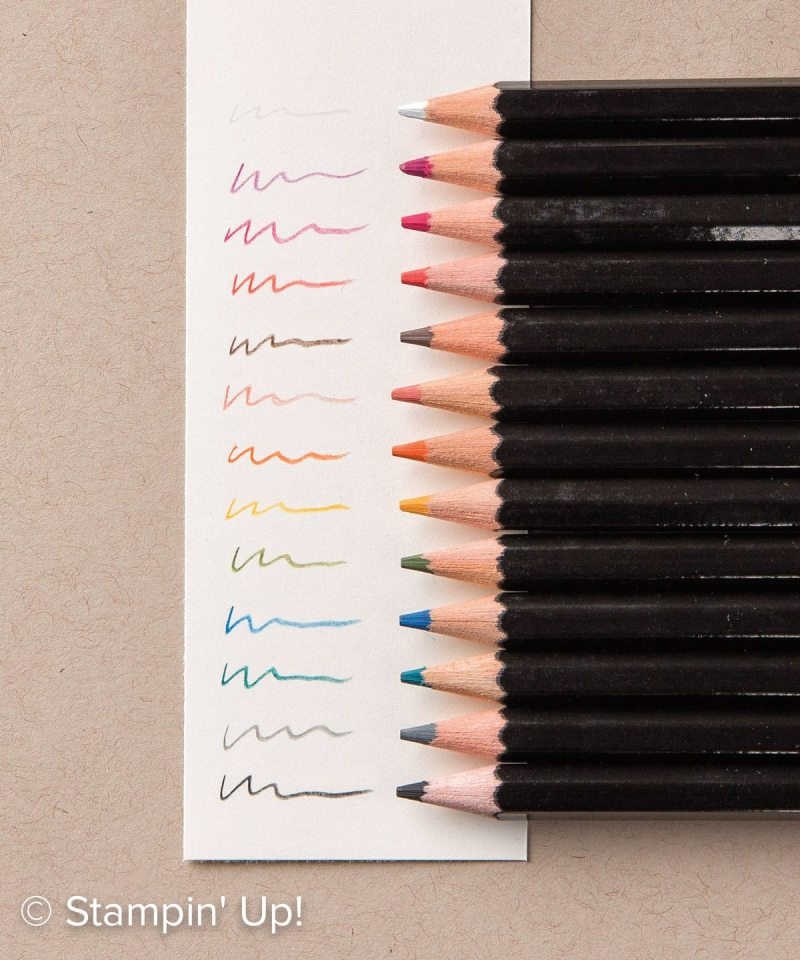 stampin up watercolor pencils, #creativeleeyours, wendy lee