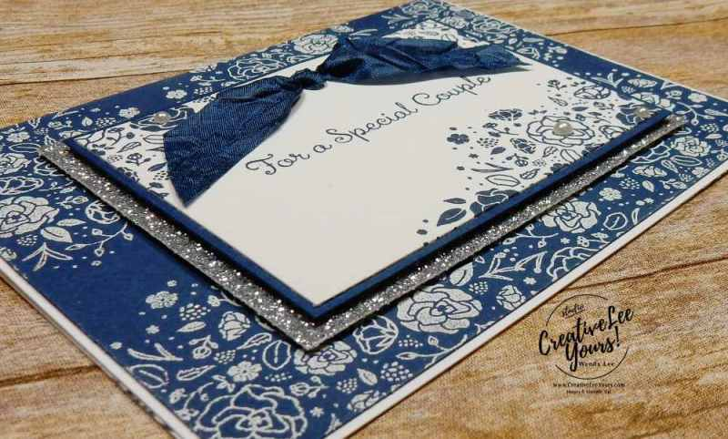 Wedding Celebration by Wendy Lee, stampin up, stamping,rubber stamps, handmade wedding card, wood words stamp set, special celebrations stamp set, embossing technique, July 2017 FMN class