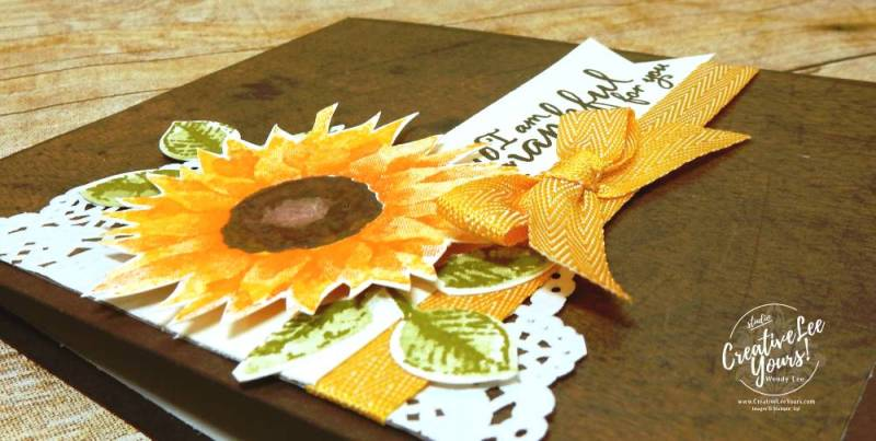 Painted Autumn Woodgrain-Aim For Alaska Blog Hop with wendy lee, stampin up, #creativeleeyours, creatively yours, painted harvest stamp set, embossing, thankful, handmade card, stamping, rubber stamps, diemonds team swap