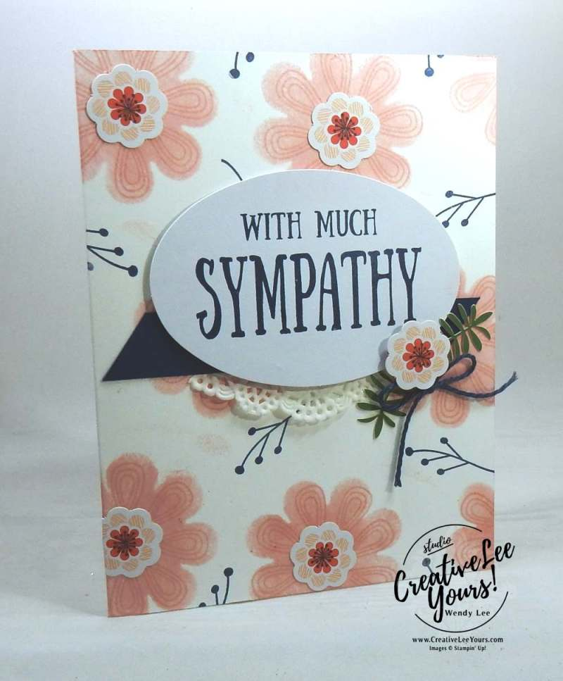 Sponged Flowers by Wendy Lee,August 2017 Giftable Greetings Paper Pumpkin Kit by wendy lee, stampin up, handmade cards, rubber stamps, stamping, kit, subscription, alternate cards, congrats, sympathy