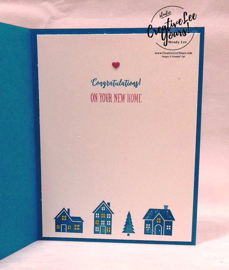 New Beginnings by Wendy Lee, Stampin Up, #creativeleeyoures, creatively yours, handmade,stamping, hearts come home stamp set, color theory memories and more, new home