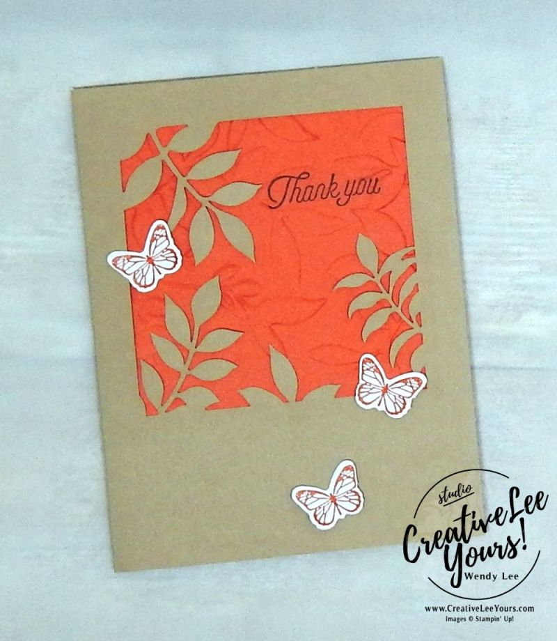 Simple Thank You by Wendy Lee,December 2017 Paper Pumpkin Flora and Flutter Kit,stampin up, handmade cards, rubber stamps, stamping, kit, subscription, floral cards, congratulations, SAB,sale-a-bration,#creativeleeyours, creatively yours