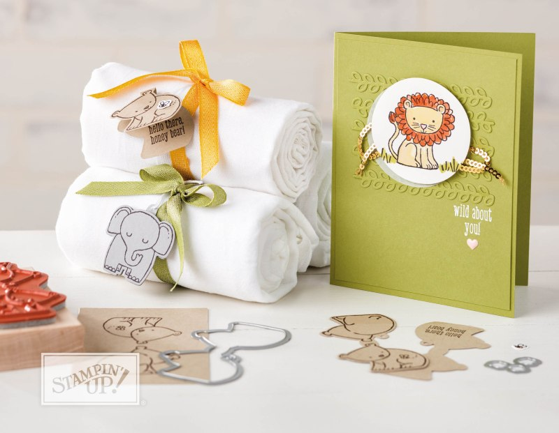 A little wild bundle with Wendy Lee, stampin Up, stamping, rubber stamps, handmade, #creativeleeyours, creatively yours, a little wild stamp set,little loves framelits dies, baby,animals