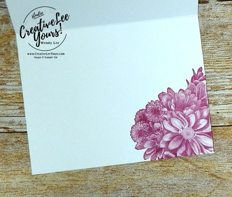 Thank You Blooms by Wendy Lee,stampin up, #creativeleeyurs,creativelyyours, sale-a-bration,SAB,heartfelt blooms stamp set, handmade thank you card, flowers,quick & easy,diemonds team swap