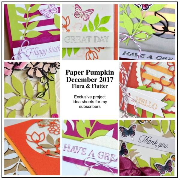December 2017 Paper Pumpkin Flora and Flutter Paper Pumpkin Kit by wendy lee, stampin up, handmade cards, rubber stamps, stamping, kit, subscription, holiday cards