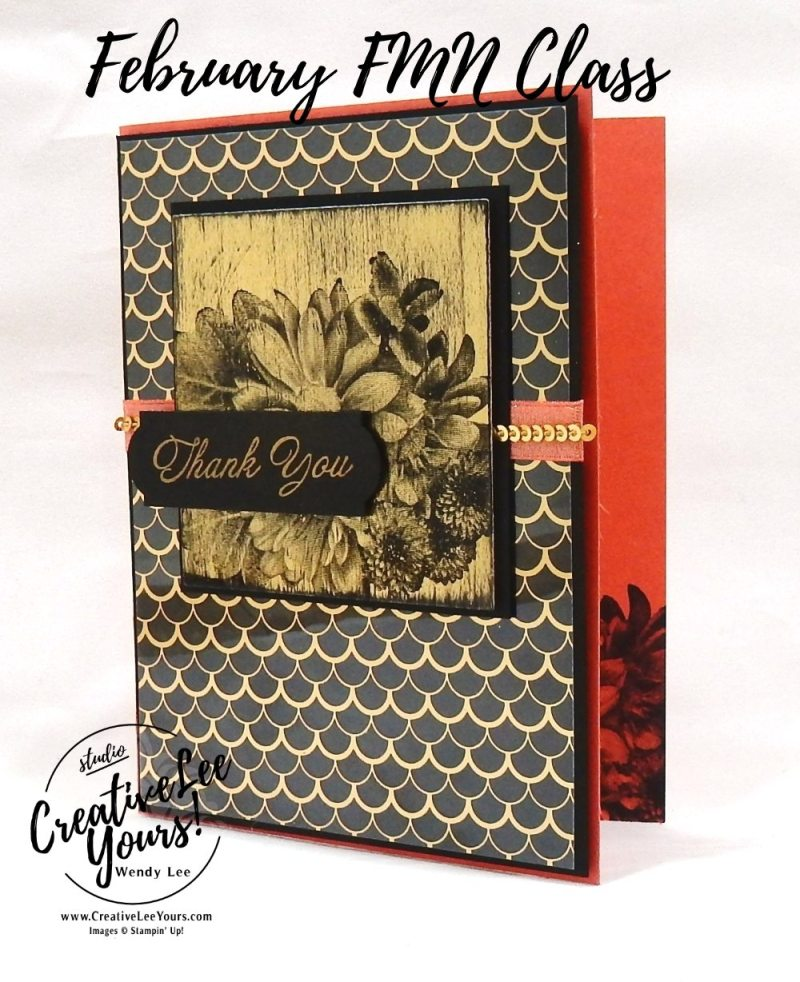 Black Ice Thank you by Wendy Lee,stampin up,stamping, hand made, technique card, #creativeleeyours, creatively yours, Kylie Bertucci international hightlights blog hop,SAB,sale-a-bration,heartfelt blooms stamp set, amazing you stamp set, thank you, sympathy, birthday