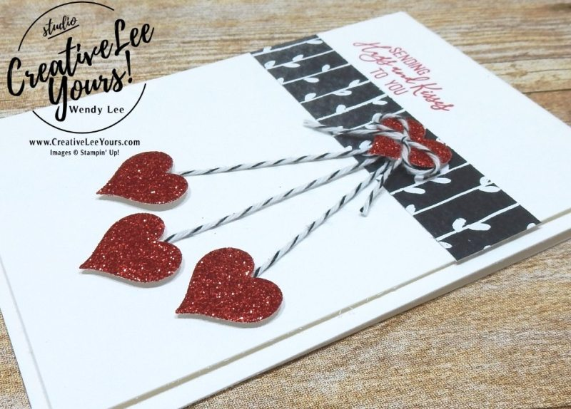 January 2018 Paper Pumpkin Heartfelt Love Notes Kit,wendy lee,Stampin up, stamping, handmade, cards, #creativeleeyours, creatively yours, February 2018 FMN class bonus card,quick and easy valentine card,love card,hearts