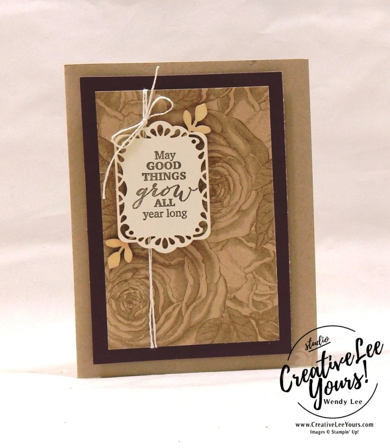March 2018 May Good Things Grow Paper Pumpkin Kit by wendy lee
