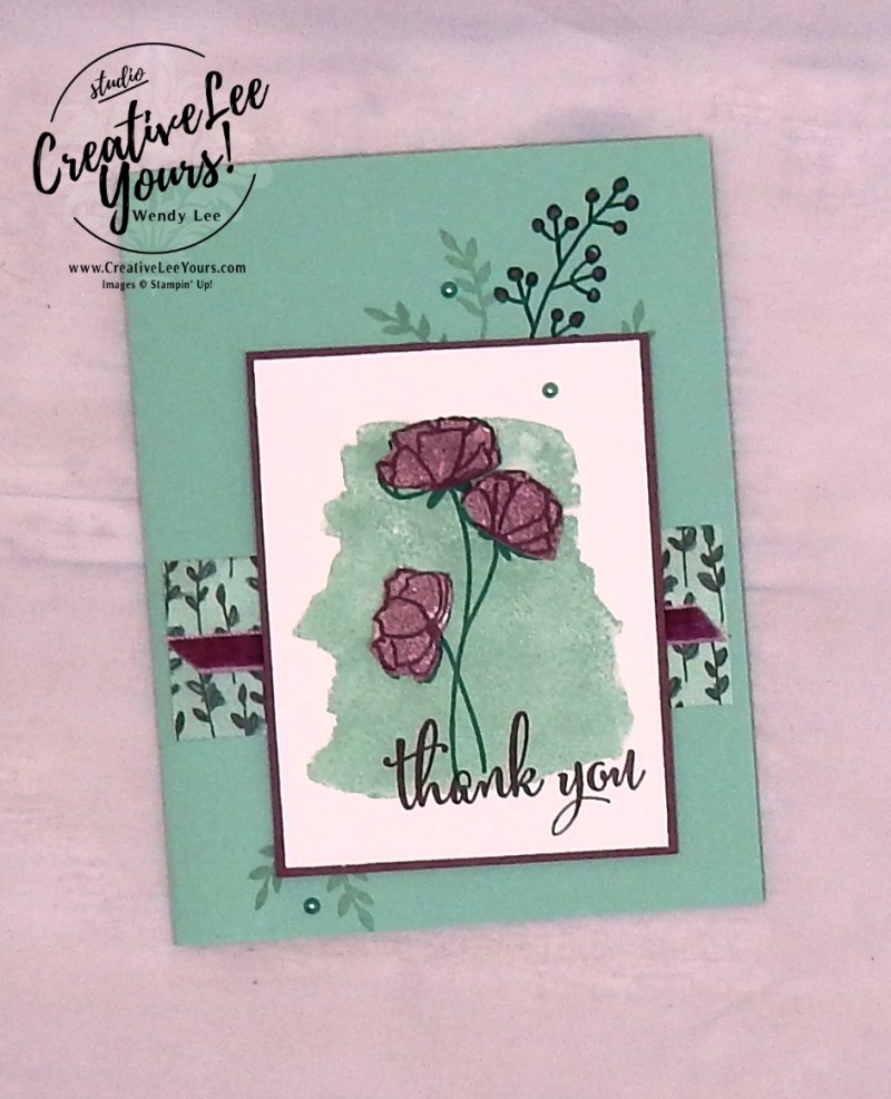 Thank you, cardmaking, handmade card, rubber stamps, stamping, stampin up, wendy Lee, #creativeleeyours, creatively yours, creative-lee yours, SU, SU cards, love what you do stamp set, share what you love, promotion, birthday
